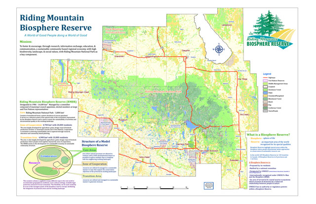 Link to map of Riding Mountain Biosphere Reserve